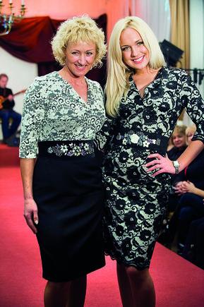 Butauto Barausko nuotrauka/Oksana Pikul su mama Laimute Pikul