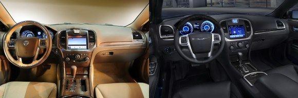 Gamintojo nuotr./Lancia Thesis ir Chrysler 300 interjerai
