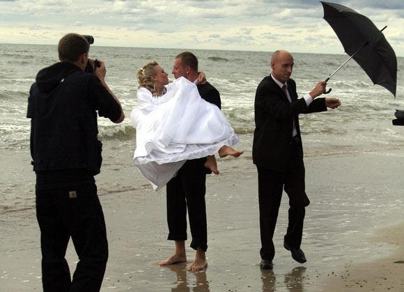 Scanpix nuotr./Viliaus ir Violetos Tarasovų vestuvės