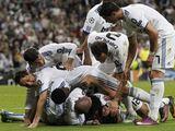 """""""Reuters""""/""""Scanpix"""" nuotr./Madrido """"Real"""" žaidėjai džiaugiasi įvarčiu."""