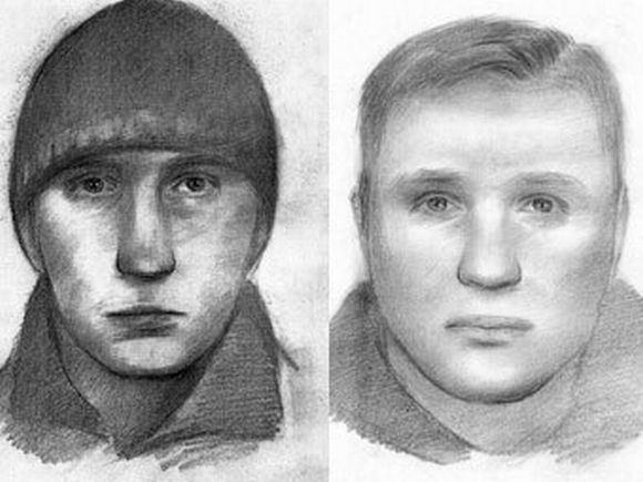 Baltarusijos KGB nuotr./Įtariamųjų sprogdinimu Minske fotorobotai