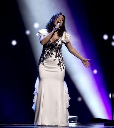 Irmanto Gelūno/15min.lt nuotr./Evelina Saaenko generalinėje Eurovizijos repeticijoje.
