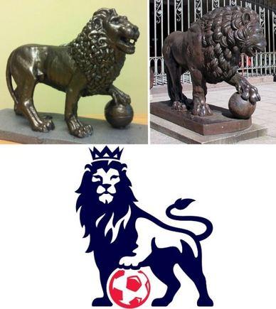 """15min.lt nuotr./Viršuje kairėje – T.Gutausko skulptūros projektas, viršuje dešinėje – skulptūra Karo muziejaus sodelyje, apačioje – """"Premier"""" lygos logotipas"""
