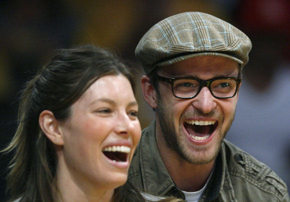 Scanpix nuotr./Justinas Timberlake'as ir Jessica Biel