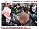 Antifa.lt iliustracija/Antifašistinėje sveitainėje antifa.lt pranešimas apie D.Velykiui, jo nuomone, nepelnytai skirtą baudą iliustruotas taip.