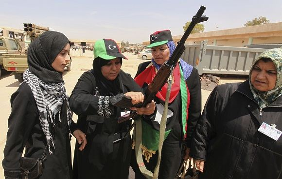 Scanpix nuotr./Libijos moterys