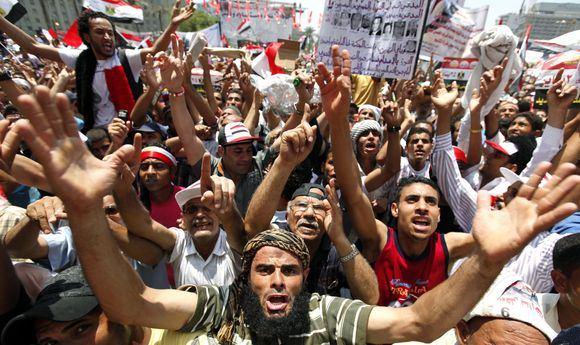 Reuters/Scanpix nuotr./Protestai Egipte