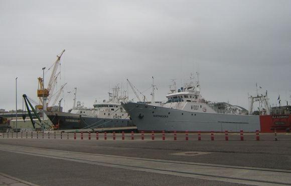 E.Garnelytės nuotr./Laivai Vigo uoste