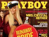 """""""Reuters""""/""""Scanpix"""" nuotr./""""Playboy"""" liepos mėnesio viršelis su """"pabėgusia nuotaka"""" Crystal Harris"""