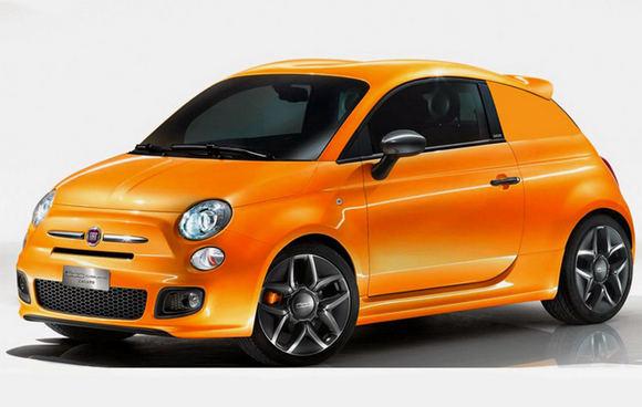 Обои Fiat купе Fiat 500 желт…