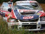 Dainiaus Matijoaaičio su Mitsubishi Lancer Evolution avarija Estijos ralyje