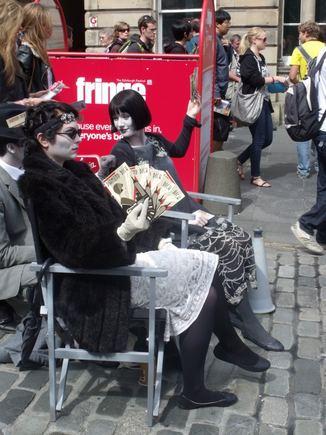 R.Kuzminskaitės nuotr./Edinburgo festivalyje įmanoma iavysti neįtikėčiausių sumanymų.