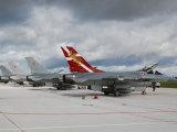 vrš. Vytauto Urbelio nuotr./Danijos karališkųjų karinių oro pajėgų naikintuvai F-16