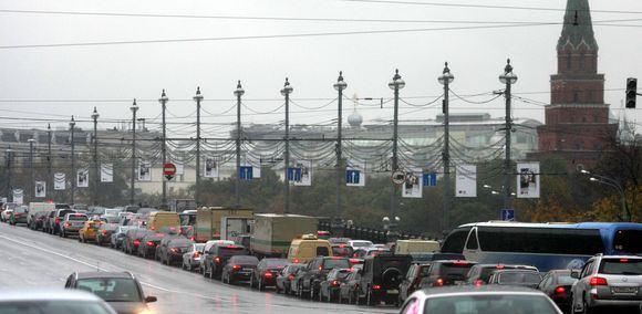 Automobilių kamštis Maskvoje