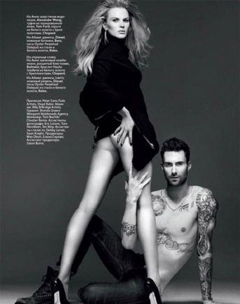 Vogue.ru nuotr./Dingęs Adamo Levine'o liemuo