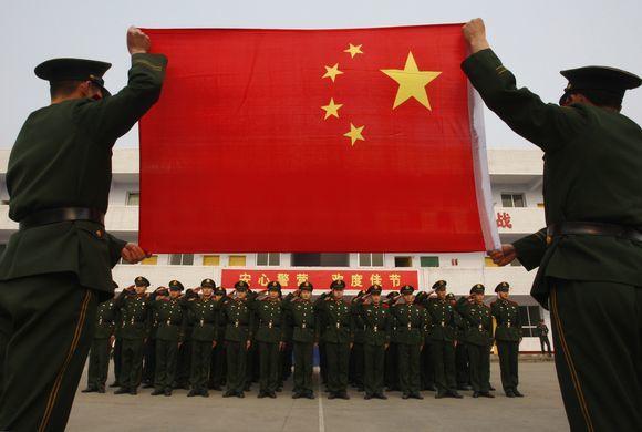Reuters/Scanpix nuotr./Kinijos vėliava