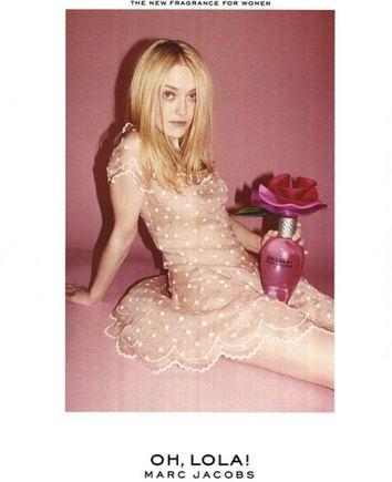 """Lolamarcjacobs.com nuotr./Kvepalų """"Oh Lola!"""" reklama su aktore Dakota Fanning"""