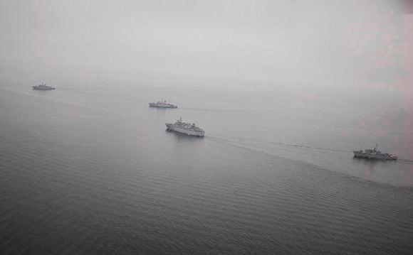 KJP nuotr./Karo laivų flotilės mokymai.