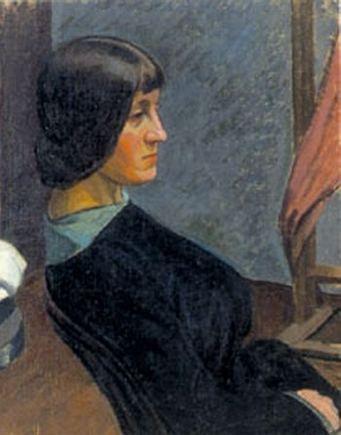 Justino Vienožinskio paveikslas/Jaunos moters portretas (1913 m.)
