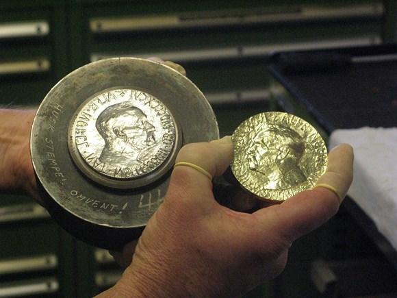15min.lt/L.Balsytės nuotr./Nobelio taikos medalis