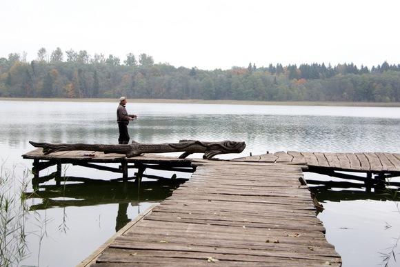 K.Stalnionytės nuotr./Žvejys prie ežero