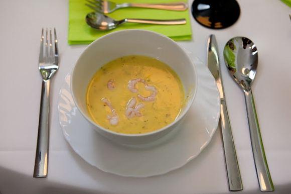 Eduardo Bareikos nuotr./Trinta sūrio sriuba su krevetėmis