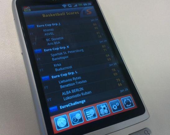 """Aplikacija """"LiveScore"""""""