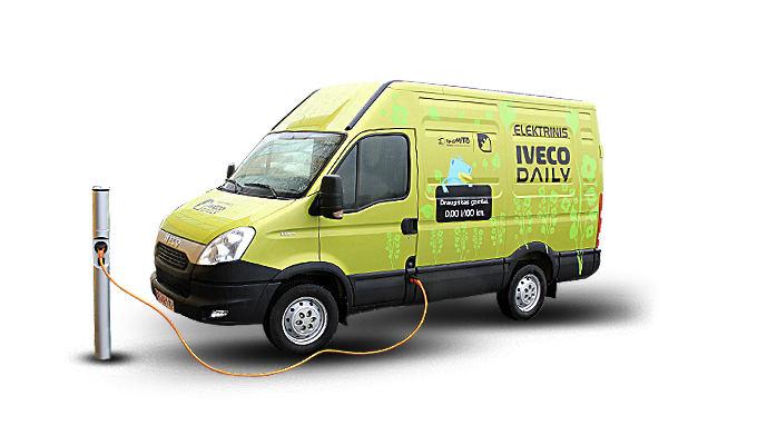 "Pagaminta Lietuvoje: elektrinis ""Iveco Daily"" furgonas"