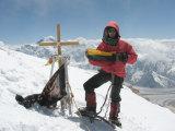 E.Markšaičio asmeninio archyvo nuotr./Ernestas Markšaitis kalno Chan Tengri (Tian Šanis, 7010 m) viršūnėje