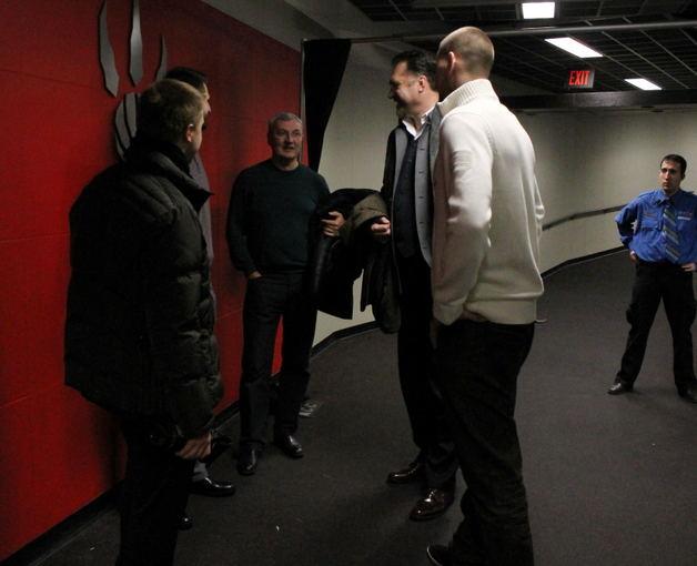 L.Paulauskaitės nuotr./LKF susitikimas su NBA lietuviais