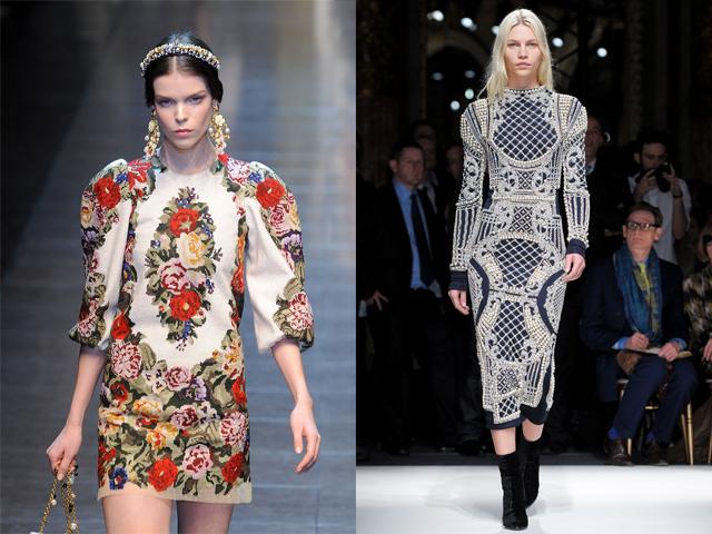 Ia kairės: Dolce & Gabbana, Balmain