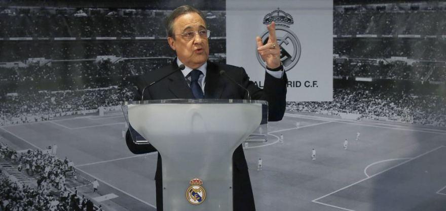 """Reuters""/""Scanpix"" nuotr./Florentino Perezo skubi spaudos konferencija."
