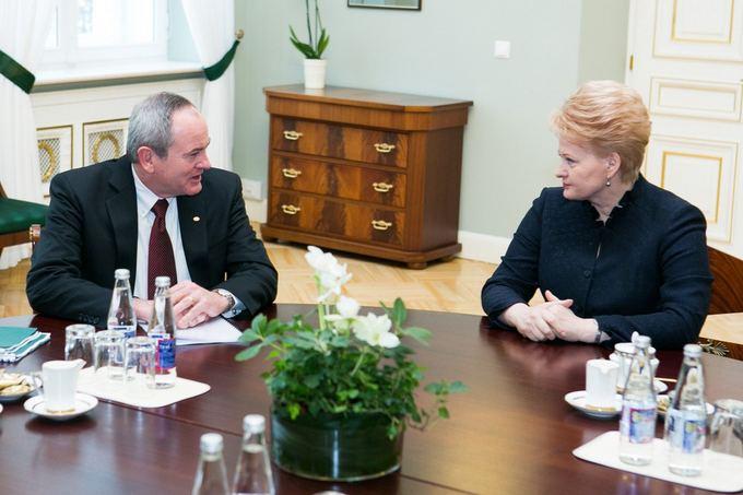Jay Johnson and Dalia Grybauskaitė