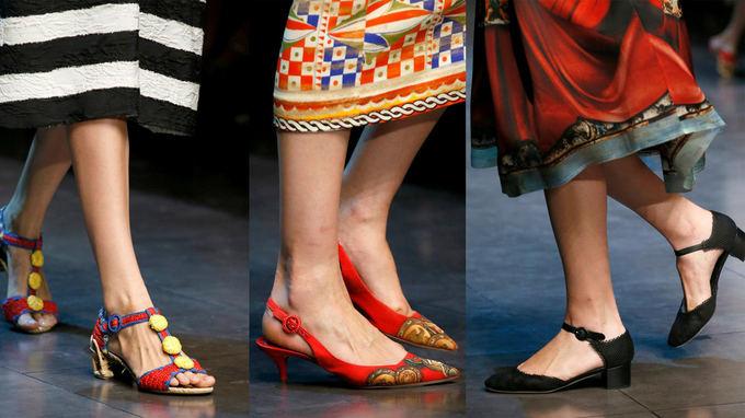 Dolce & Gabbana facebook paskyros nuotr./Italų dueto Dolce & Gabbana bateliai, įkvėpti Sicilijos, liaudies fiestų ir senosios tapybos. Milano madų savaitė.