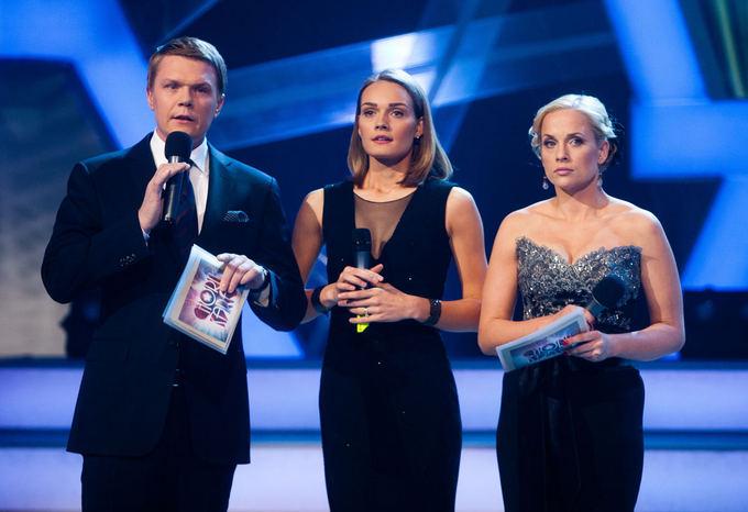 Mindaugas Stasiulis, Jurgita Jurkutė-Širvaitė ir Inga Jankauskaitė balandžio 21-osios laidoje, skirtoje Vytautui Šapranauskui pagerbti