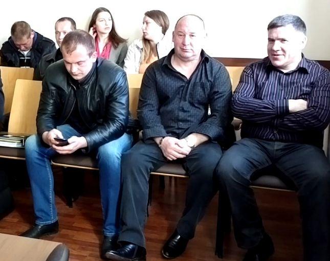 Kaltinamieji (iš dešinės) Ramūnas Dailydė, Stanislovas Narkevičius ir Paulius Nižauskas