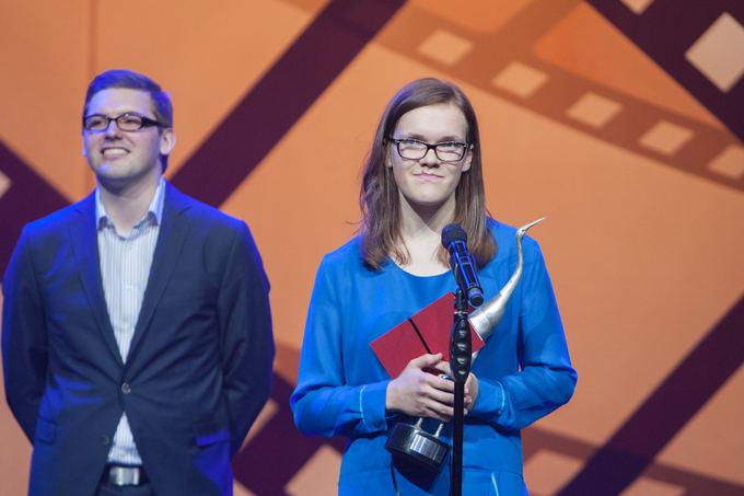 Gabrielė Urbonaitė Sidabrinių gervių 2013 apdovanojimų ceremonijoje