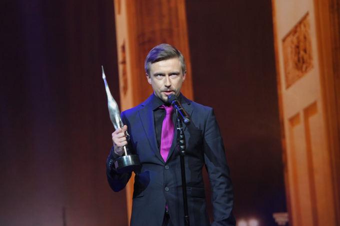 Marius Jampolskis Sidabrinių gervių 2013 apdovanojimų ceremonijoje