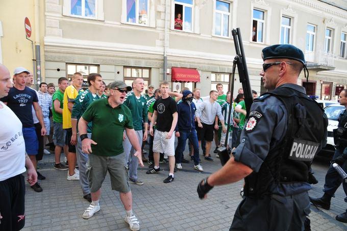 Lietuvos ir Lenkijos futbolo sirgalių konfliktas