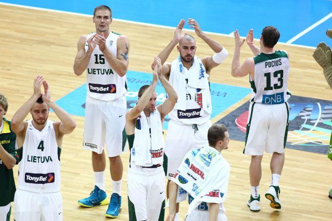 Lietuvos krepšininkai po rungtynių su Bosnija ir Hercegovina