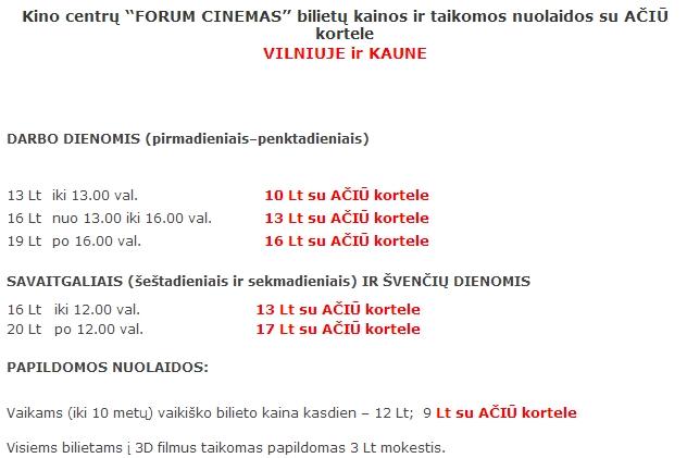 Kiek kainuoja popkornai forum cinemas