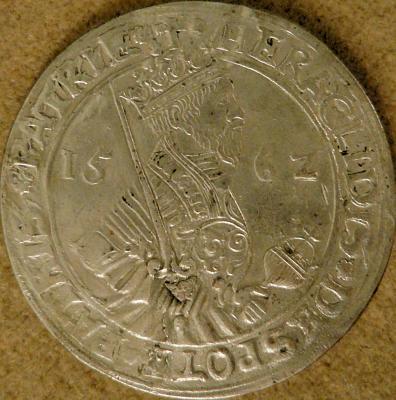 1562 m. sidabrinė moneta su Despoto atvaizdu