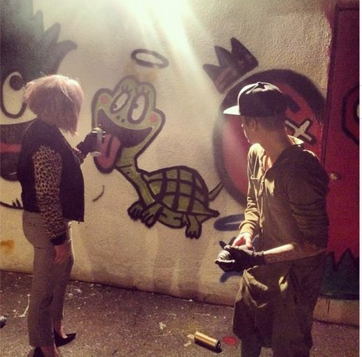 """Instagram"" nuotr./Justinas Bieberis ir Kelly Osbourne"