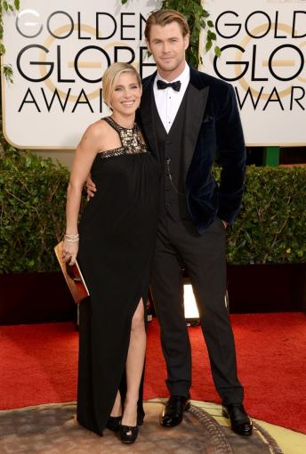 "AFP/""Scanpix"" nuotr./Elsa Pataky su vyru Chrisu Hemsworthu"