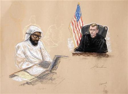 """""""Reuters""""/""""Scanpix"""" nuotr./ Mustafa al- Hawsawi teismo posėdyje"""