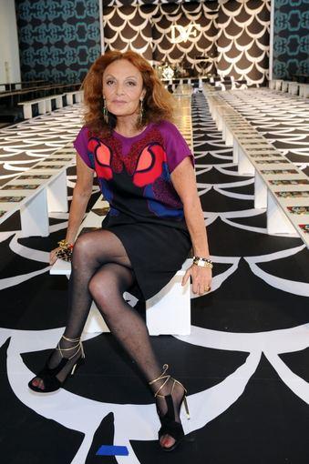 """AFP/""""Scanpix"""" nuotr./Dizainerė Diane von Furstenberg"""