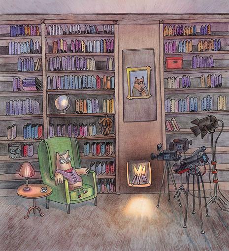 Justinos Norkutės-Širin ir Artur Širin iliustracija/Pelėda bibliotekoje