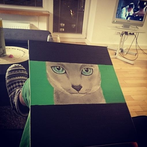 Asmeninio albumo nuotr./Monikos Šalčiūtės tapytas paveikslas