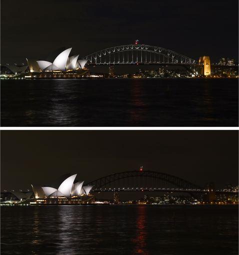 """AFP/""""Scanpix"""" nuotr./Sidnėjus užtemo"""