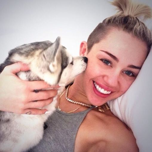 """Instagram"" nuotr./Miley Cyrus ir Floydas"